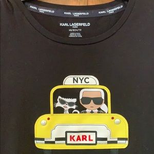 Karl Lagerfeld Yellow taxi T-shirt